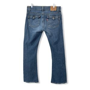 Levi's 542 Low Rise Flare Jeans Blue Stretchy 10